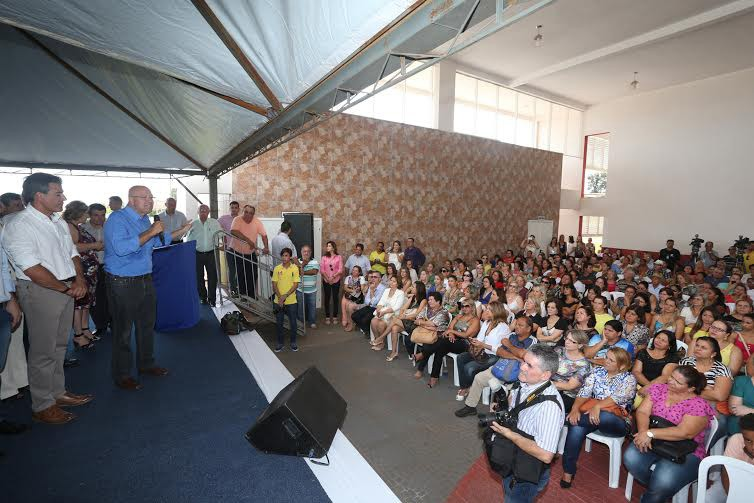 O GOVERNADOR BETO RICHA DURANTE INAUGURACAO DO CENTRO ESTADUAL DE EDUCAÇÃO PROFISSIONAL PROFESSOR OSÓRIO GONÇALVES NOGUEIRA