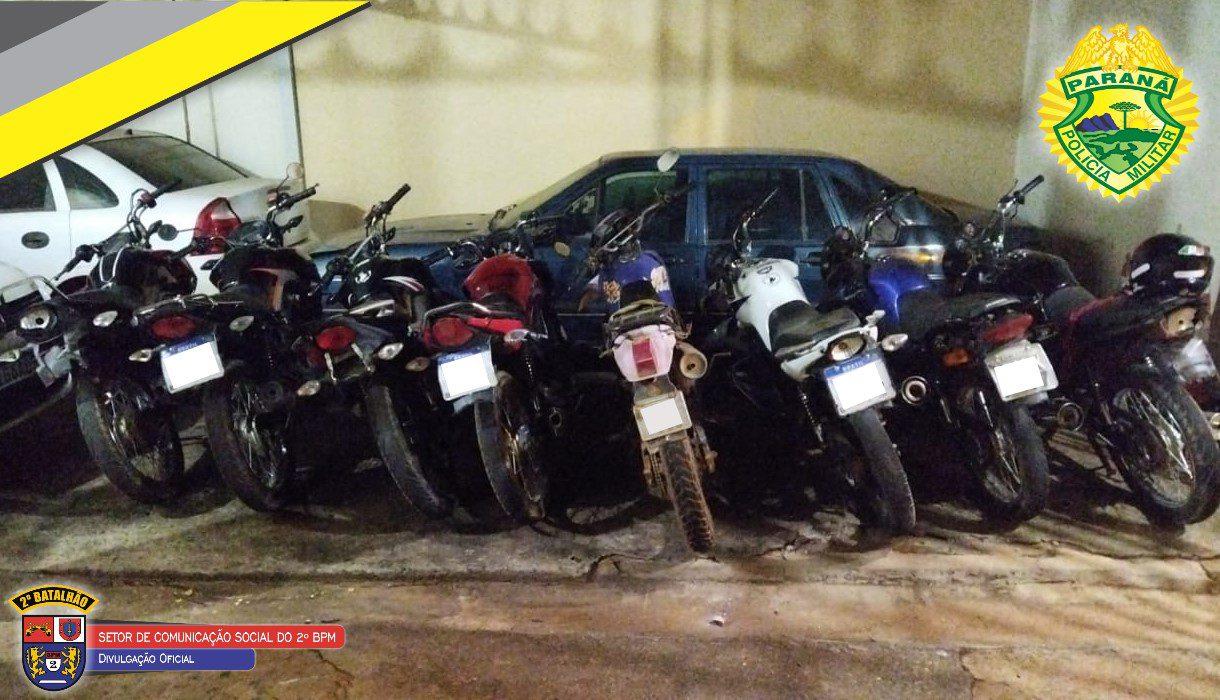 Siqueira Campos apreende motos